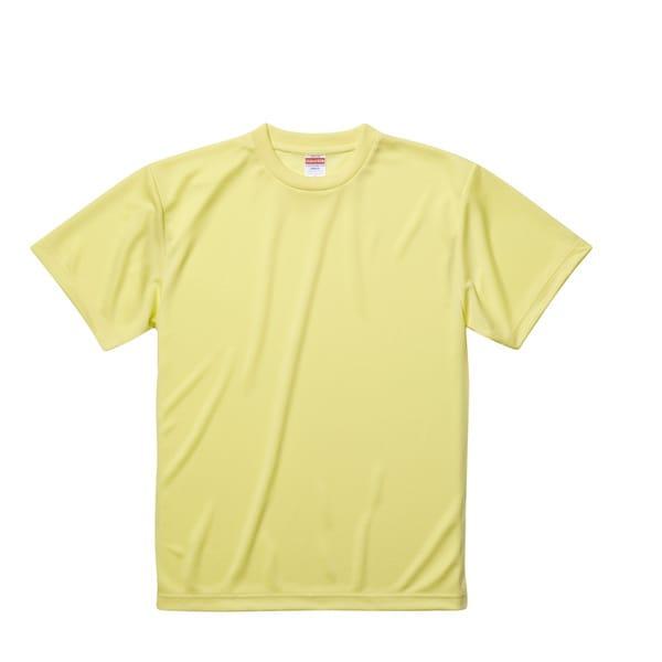 590001-0487 M [4.1オンス ドライアスレチック Tシャツ ライトイエロー Mサイズ]