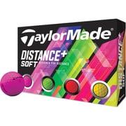 ゴルフボール DISTANCE+SOFT MULTI COLOR(ディスタンスプラス ソフト マルチカラー) 2ピース マルチカラー M7174701 2019年モデル [1ダース 12球入]