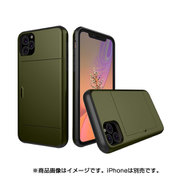 YHDSCC19A-MG [iPhone 11 Pro スライドカードケース ミリタリ]