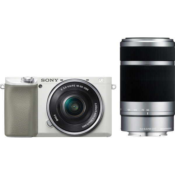 ILCE-6100Y W [α6100(アルファ6100) ダブルズームレンズキット(ボディ+E PZ 16-50mm F3.5-5.6 OSS+E 55-210mm F4.5-6.3 OSS) ホワイト]