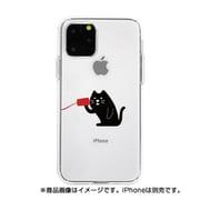 DS17246i58R [iPhone 11 Pro ソフトクリアケース 糸電話 聞くネコ]