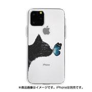 DS17247i58R [iPhone 11 Pro ソフトクリアケース ネコと蝶々]