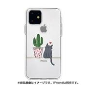 DS17259i61R [iPhone 11 ソフトクリアケース サボテンと猫]