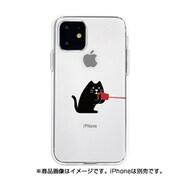 DS17274i61R [iPhone 11 ソフトクリアケース 糸電話 話すネコ]