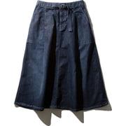 W Stretch Denim Skirt HOW21957 (N)ネイビー WLサイズ [アウトドア スカート レディース]