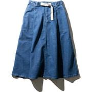 W Stretch Denim Skirt HOW21957 (B)ブルー WSサイズ [アウトドア スカート レディース]