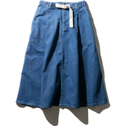 W Stretch Denim Skirt HOW21957 (B)ブルー WLサイズ [アウトドア スカート レディース]