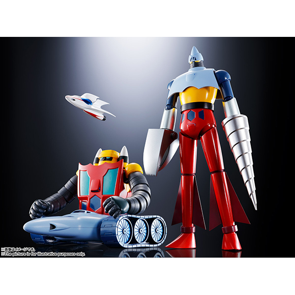 超合金魂 GX-91 ゲッター2&3 D.C. [塗装済み可動フィギュア 全高約175mm]