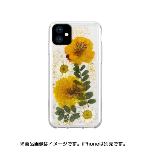 HFI158SK [iPhone 11 Pro HABITU Hybrid/EVERLAST REAL FLOWERS SUNKISS]