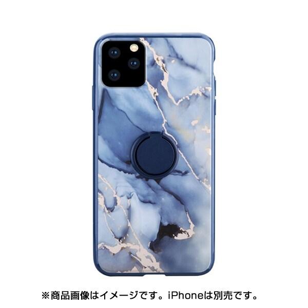 HCRMI158RB [iPhone 11 Pro HABITU RING/MARBLES ROSA BLUE]