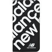74336-1 iPhone 11 New Balance [スリム手帳ケース スタンプロゴ ブラック]