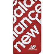 74336-2 iPhone 11 New Balance [スリム手帳ケース スタンプロゴ レッド]