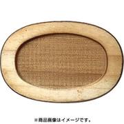 WP-034 ミニチュアパーツ 楕円皿D SS 2個 [木製ミニチュア素材]