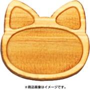 WP-043 ミニチュアパーツ アニマルプレート ネコ S 2個 [木製ミニチュア素材]