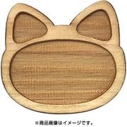 WP-044 ミニチュアパーツ アニマルプレート ネコ M 1個入り [木製ミニチュア素材]