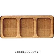 WP-054 ミニチュアパーツ 3レントレー 長方形A S 2個 [木製ミニチュア素材]