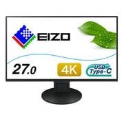 EV2785-SFBK [27インチ 4K UHD(3840×2160) カラー液晶モニター 4辺フレームレス・フルフラット USB Type-C/HDMI/DisplayPort搭載 FlexScan ブラック]