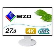 EV2785-SFWT [27インチ 4K UHD(3840×2160) カラー液晶モニター 4辺フレームレス・フルフラット USB Type-C/HDMI/DisplayPort搭載 FlexScan ホワイト]