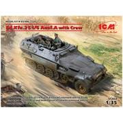 35104 ドイツ Sd.Kfz.251/6 Ausf.A 装甲指揮車 w/クルー [1/35スケール プラモデル]
