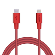 MPA-CLPS10RD [USB C-Lightningケーブル/PD/パワーデリバリー対応/iphone/ipad/準高耐久/1.0m/レッド]