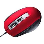 MA-BL163R [静音有線ブルーLEDマウス(5ボタン)]