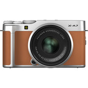FUJIFILM X-A7 レンズキット キャメル [ボディ+交換レンズ「XC15-45mmF3.5-5.6 OIS PZ シルバー」]