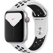 Apple Watch Nike Series 5(GPS + Cellularモデル)- 44mm シルバーアルミニウムケースとピュアプラチナム/ブラックNikeスポーツバンド [MX3E2J/A]