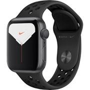 Apple Watch Nike Series 5(GPSモデル)- 40mm スペースグレイアルミニウムケースとアンスラサイト/ブラックNikeスポーツバンド [MX3T2J/A]