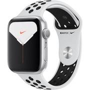 Apple Watch Nike Series 5(GPSモデル)- 44mm シルバーアルミニウムケースとピュアプラチナム/ブラックNikeスポーツバンド [MX3V2J/A]