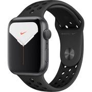 Apple Watch Nike Series 5(GPSモデル)- 44mm スペースグレイアルミニウムケースとアンスラサイト/ブラックNikeスポーツバンド [MX3W2J/A]