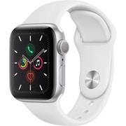 Apple Watch Series 5(GPSモデル)- 40mm シルバーアルミニウムケースとホワイトスポーツバンド [MWV62J/A]