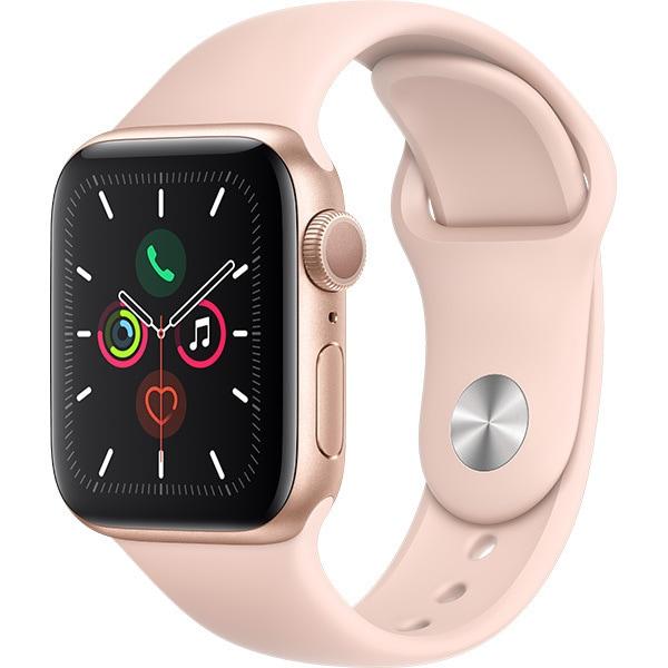 Apple Watch Series 5(GPSモデル)- 40mm ゴールドアルミニウムケースとピンクサンドスポーツバンド [MWV72J/A]