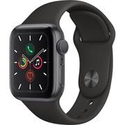 Apple Watch Series 5(GPSモデル)- 40mm スペースグレイアルミニウムケースとブラックスポーツバンド [MWV82J/A]