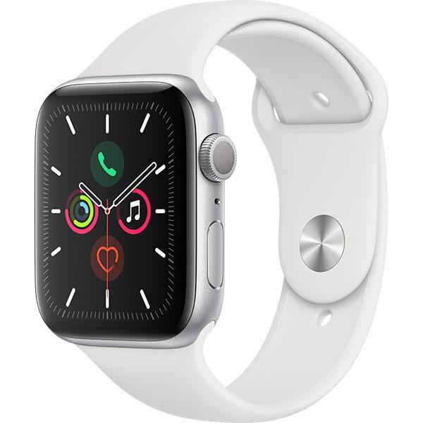 Apple Watch Series 5(GPSモデル)- 44mm シルバーアルミニウムケースとホワイトスポーツバンド [MWVD2J/A]