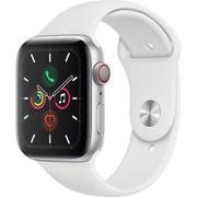 Apple Watch Series 5(GPS + Cellularモデル)- 44mm シルバーアルミニウムケースとホワイトスポーツバンド [MWWC2J/A]