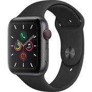 Apple Watch Series 5(GPS + Cellularモデル)- 44mm スペースグレイアルミニウムケースとブラックスポーツバンド S/M & M/L [MWWE2J/A]