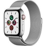Apple Watch Series 5(GPS + Cellularモデル)- 44mm ステンレススチールケースとミラネーゼループ [MWWG2J/A]