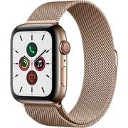 Apple Watch Series 5(GPS + Cellularモデル)- 44mm ゴールドステンレススチールケースとゴールドミラネーゼループ [MWWJ2J/A]