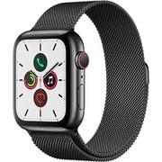 Apple Watch Series 5(GPS + Cellularモデル)- 44mm スペースブラックステンレススチールケースとスペースブラックミラネーゼループ [MWWL2J/A]
