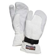 3-Finger Full Leather 30872 OffWhite サイズ8 [スノーグローブ ミトン]