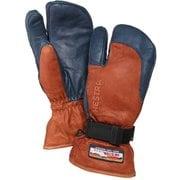 3-Finger GTX Full Leather 33882 Brown/Navy サイズ4 [スノー グローブ]
