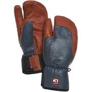 3-Finger Full Leather Short 33872 Navy/Brown サイズ5 [スノー グローブ]