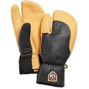 3-Finger Full Leather Short 33872 Grey/Nt.Brown サイズ9 [スノー グローブ]