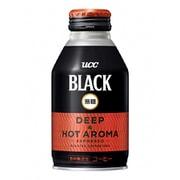 季節品 ブラック無糖 DEEP&HOT AROMA ボトル缶 275g×24本