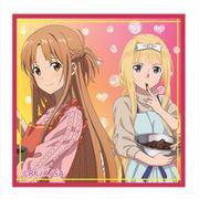 ソードアートオンラインアリシゼーション スクエア缶バッジ vol.2 アスナ&アリス B [キャラクターグッズ]