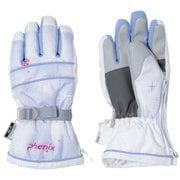 Snow Crystal Kids Gloves PS9H8GL75 WTK Sサイズ [スキーグローブ キッズ]