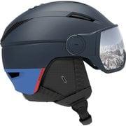 PIONEER VISOR L40835700 Dress Blue/UNIVEESAL Lサイズ [スキー ヘルメット 一般]