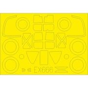 EDUEX666 P-38F/G 塗装マスクシール タミヤ用 [1/48スケール 樹脂製塗装済マスキングシール]