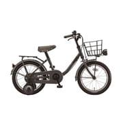 BKM16 2A022B [ジュニア向け自転車 bikke m 16型 E.YBKダークグレー]