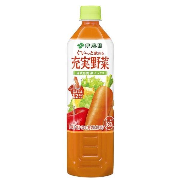 充実野菜緑黄色ミックス 930g×12本 [野菜果汁飲料]